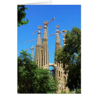 Carte Église de Sagrada Familia à Barcelone, Espagne