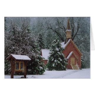 Carte Église de Yosemite dans la neige