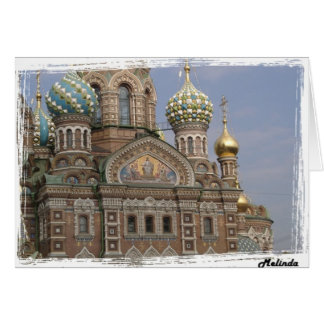Carte Église du sang renversé St Petersburg, Russie