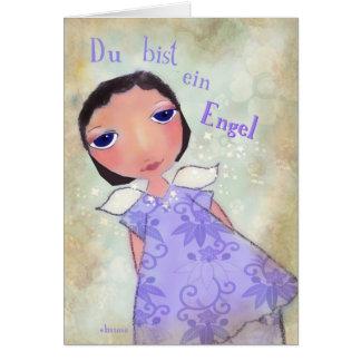 Carte ein Engel (vous de du bist êtes un ange) en