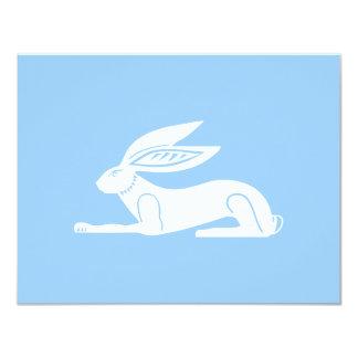 Carte ~ élégant Pâques de lapin