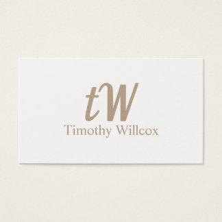 Carte élégante claire et minimaliste
