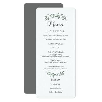 Carte élégante de menu de suite de mariage carton d'invitation  10,16 cm x 23,49 cm