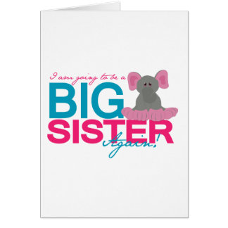 Carte Éléphant de grande soeur encore
