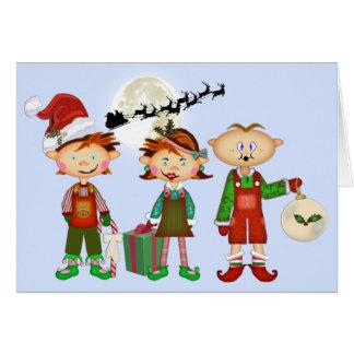Carte Elfes de Noël