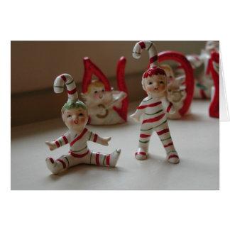 Carte Elfes pour Noël