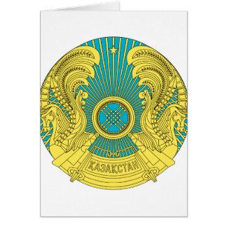 Carte emblème du Kazakhstan
