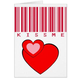 Carte Embrassez-moi culture cramoisie de code barres #1