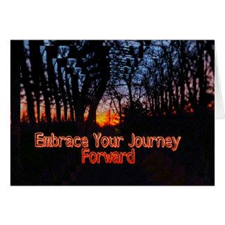 Carte Embrassez votre citation en avant de tunnel
