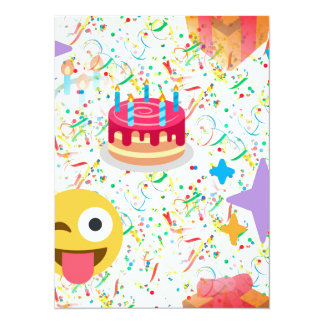 Carte emoji de joyeux anniversaire