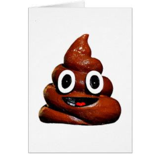 Carte emoji drôle heureux de dunette