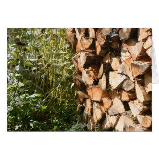 Carte empilée de photographie de nature de bois de