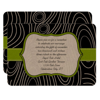 Carte en bois noire vert pomme de réception de
