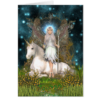 Carte en cristal de fée et de licorne