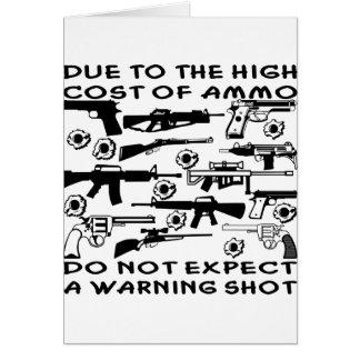 Carte En raison du coût élevé de munitions aucun coup de