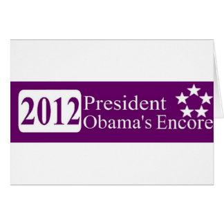 Carte Encore du Président Obama