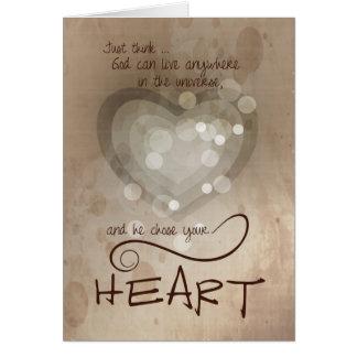 Carte Encouragement religieux de coeur
