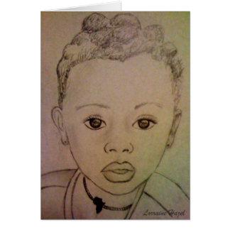 Carte Enfant africain - espoir vivant