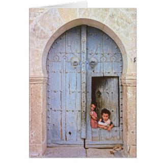Carte Enfants arabes à Tunis la Médina