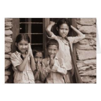 Carte Enfants de Nepali