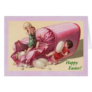 Carte Enfants de Pâques avec les dragées à la gelée de