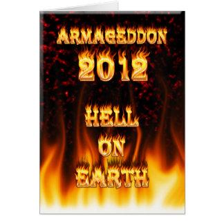 Carte Enfer sur le feu et des flammes de la terre