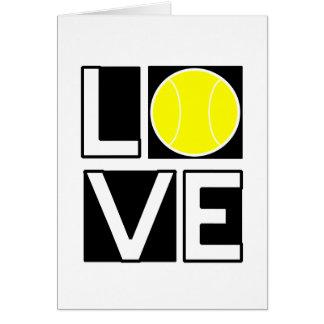 Carte enfermée dans une boîte de tennis d'AMOUR