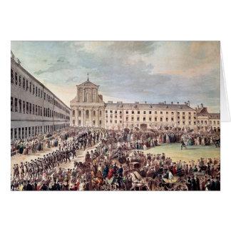 Carte Enterrement de Ludwig van Beethoven à Vienne