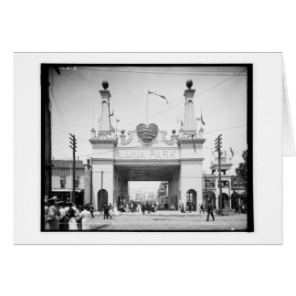 Carte Entrée vers Luna Park, Coney Island, N.Y. c1905