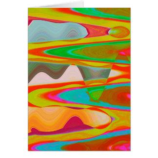 Carte Entretien d'ombre - art oriental acrylique de