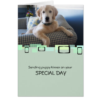Carte Envoi des baisers de chiot votre jour spécial
