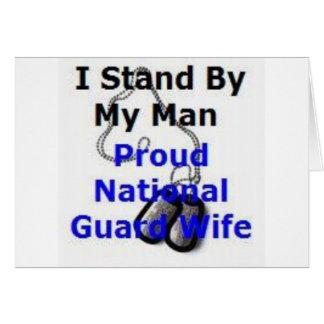 Carte Épouse fière de garde nationale