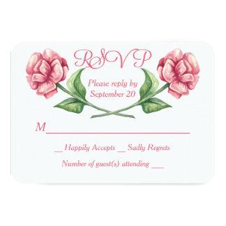 Carte Épouser de fleur de rose de rose de l'aquarelle