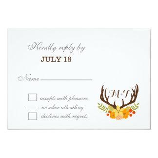 Carte Épouser de floraison d'Antler de cerfs communs