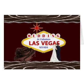 Carte ÉPOUSER en chocolat de Las Vegas s'est levé, jeune