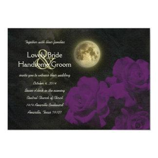 Carte Épouser mauve-foncé de roses de fantôme de pleine