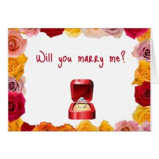 Carte Épousez-moi ?
