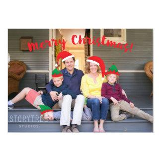 Carte Équipage de Joyeux Noël avec la photo mobile de