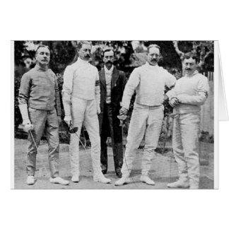 Carte Équipe de clôture 1908 olympique anglaise