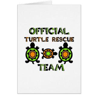 Carte Équipe de secours officielle 1 de tortue