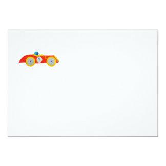 Carte Ęr anniversaire de petit de roadster enfant rouge