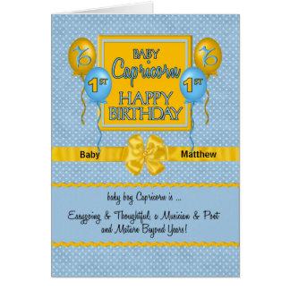 Carte Ęr zodiaque de Capricorne de l'anniversaire du
