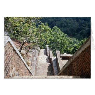 Carte Escaliers Sigiriya/au Sri Lanka