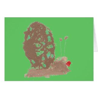 Carte Escargot-carte de Mlle