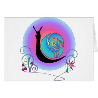 Carte Escargot heureux