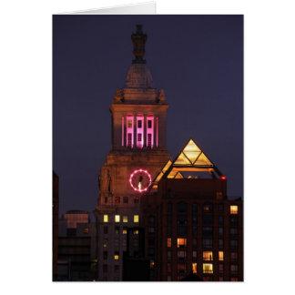 Carte Escroquez la tour d'horloge d'Edison allumée dans