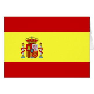 Carte espagnole de Bandera Española de drapeau