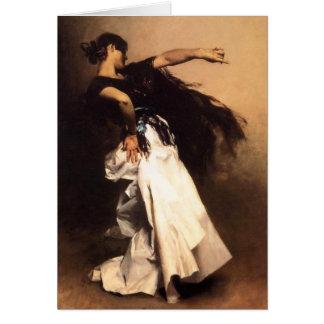 Carte espagnole de danseur de Sargent de chanteur
