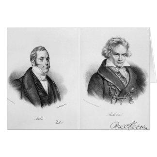 Carte Esprit Auber et Ludwig van Beethoven