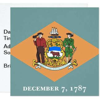 Carte État de drapeau de Delaware